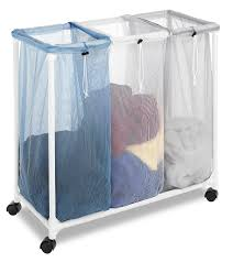 Laundry Divider Hamper by Amazon Com Whitmor Double Laundry Sorter Home U0026 Kitchen