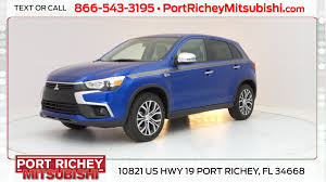 mitsubishi suv blue new 2017 mitsubishi outlander sport for sale port richey fl