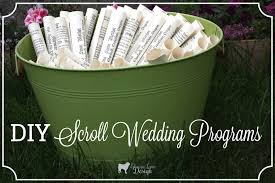 scroll wedding programs easy scroll wedding programs enchanted type