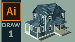 drawing production level vector house in adobe illustrator step