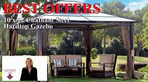 best hardtop gazebo buy 10x12 chatham steel hardtop gazebo with