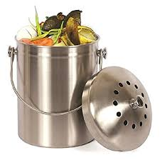 compost cuisine amazon com estilo stainless steel compost pail 1 gallon compost