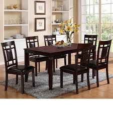 paige 7 piece table and chair set by crown mark furniture