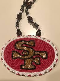 san francisco 49ers beaded lanyard
