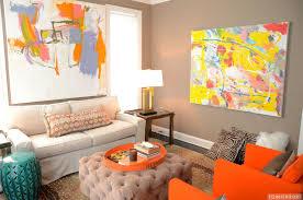 interior orange living room photo burnt orange living room