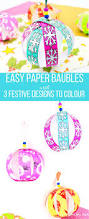 colour and create christmas paper bauble arty crafty kids