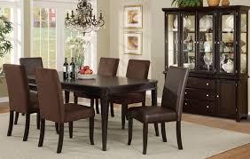 Black Wood Dining Room Set Furniture Visions  Piece X Dining - Black wood dining room set