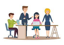 bureau entrepreneur caractères d affaires fonctionnant dans le bureau entrepreneur d