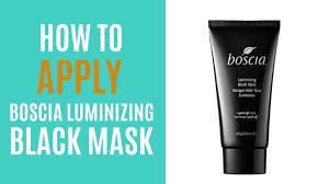 Masker Boscia how to apply boscia luminizing black mask discocurlstv