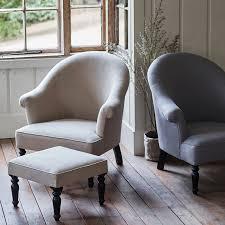 grey linen chair clandon linen armchair