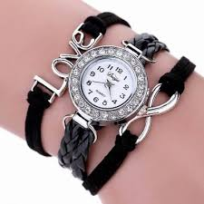 bracelet wrist watches images Duoya d023 women girls leather band love bracelet wrist watch JPG