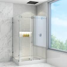 vigo winslow 48 125 in x 79 875 in frameless bypass shower