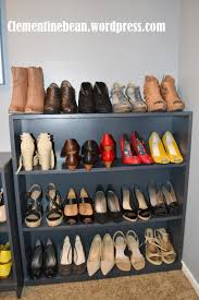 organizing shoes using old book shelves clementine bean