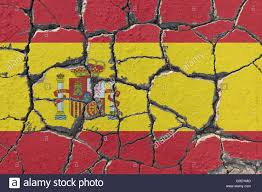 eroding flag of spain the spanish unity is endangered by
