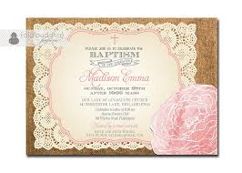 Baby Invitation Card Baby Baptism Invitations Baby Christening Invitation