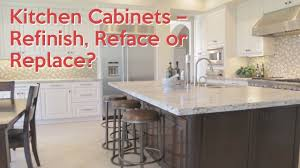 kitchen cabinets u2013 refinish reface or replace youtube