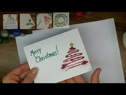 make your own christmas cards craft make your own glitter christmas cards part 1
