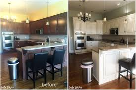 Painted White Kitchen Cabinets Before And After Kitchen Cabinets Before And After Remarkable Title Keyid