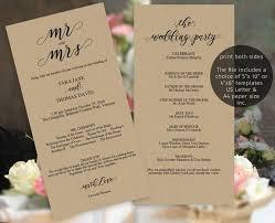 sided wedding program template 18 best wedding programs images on wedding program
