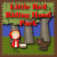 3 dinosaurs red riding hood pack