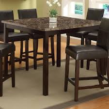 dining room counter height tables crown mark pompei faux marble top counter height table wayside