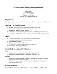 science resume template environmental science resume sle free resume templates