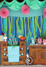 Pool Party Decoration Ideas Swim Over To Our Mermaid Party Fynes Designs Fynes Designs