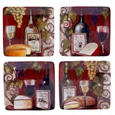 depot canape certified international wine tasting 6 25 in canape plate set of 4