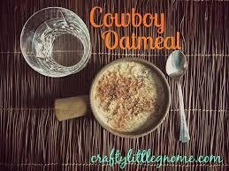 cowboy oatmeal crafty little gnome