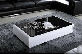 Black And White Coffee Table High Glossy Black Glass And White Mdf Coffee Table Purchasing
