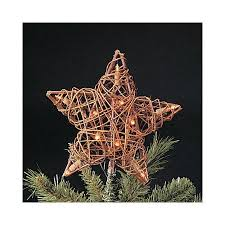Star Christmas Tree Toppers Lighted - buy 9 u0026quot lighted natural rattan 3d star christmas tree topper