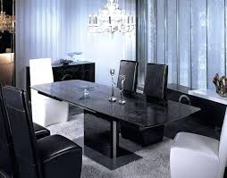 Black And Cream Dining Room - dining table modern black dining table set and chairs cream