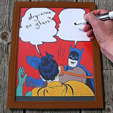 Batman And Robin Slap Meme - slap meme dry erase white board