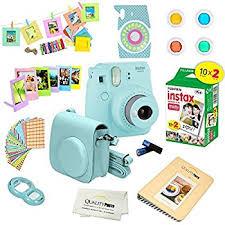 Blue Photo Album Amazon Com Fujifilm Instax Mini 9 Instant Camera Ice Blue Fuji