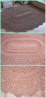 Free Area Rugs Crochet May The Miracle Oval Rug Free Pattern Crochet Area Rug