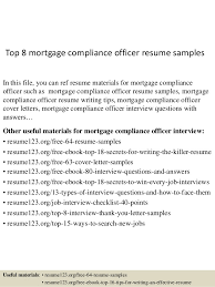 Mortgage Resume Top 8 Mortgage Compliance Officer Resume Samples 1 638 Jpg Cb U003d1434447190