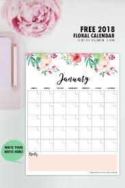printable weekly calendar for 2018 free printable 2018 monthly calendar and planner