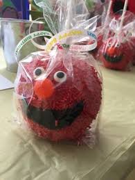 candy apple party favors elmo chocolate candy apples berryjuicycreations elmo elmoparty