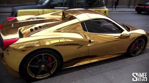 gold ferrari 458 italia gold ferrari 458 spider a car you won u0027t miss video dailymotion