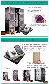 wardrobe closet bookcase shelf plastic storage box large capacity