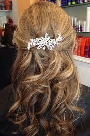 bridal hair accessory rhinestone wedding hair clip love the half