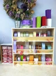 spools of ribbon ribbon label storage rack organizer holder stand display florist