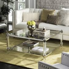 isabelle acrylic coffee table in chrome design by safavieh u2013 burke