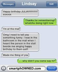 singing birthday text lindsayhappy birthday xoxoox thanks for