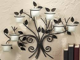 candle wall art decor tree wall candle holder iron tree candle