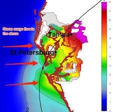 Tampa Florida Usa Map by Map Shows What A U0027gray Swan U0027 Hurricane Could Do To Tampa