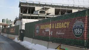renovation of wrigley field progressing as planned mlb com renovation of wrigley field progressing as planned