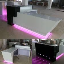 Wholesale Reception Desk China Wholesale Black Led Hotel Acrylic Reception Desk China