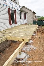 types of foundations for homes porch foundations porch repairs porch footing