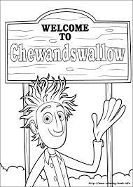 cloudy chance meatballs coloring pages coloring book